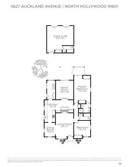 5627 Auckland Avenue FloorPlan