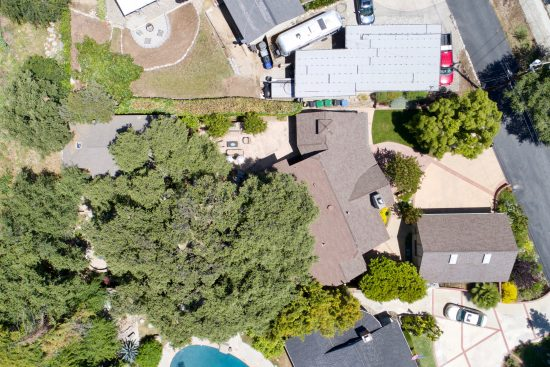 1839 Oak View Lane Aerial View High Res